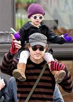 Heath y su hija Matilda